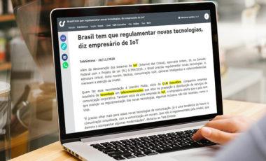 Brasil tem que regulamentar novas tecnologias, diz empresário de IoT